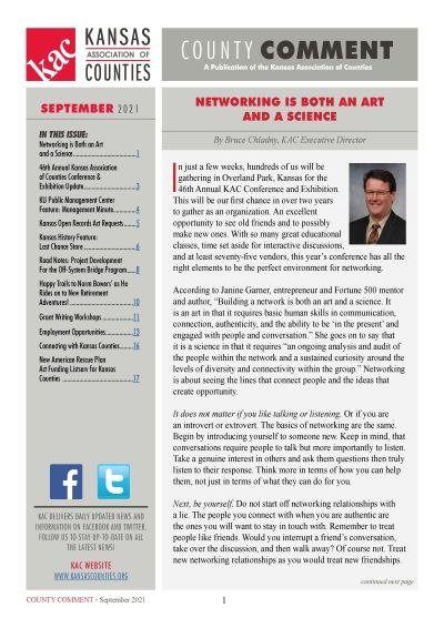 September 2021 Newsletter Cover
