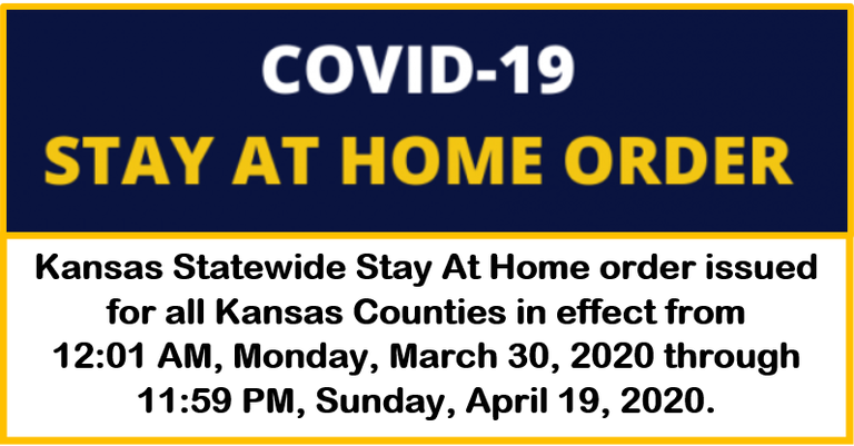Kansas Statewide Stay At Home Order #COVID19